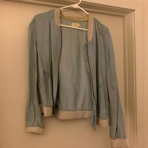Lou & Grey Jean Bomber Jacket